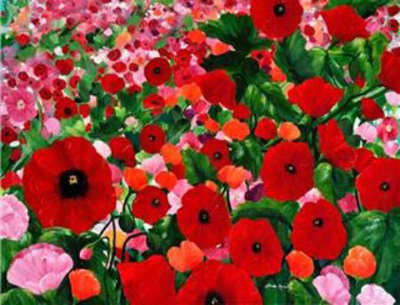 Field of Poppies by artist Linda Rauch